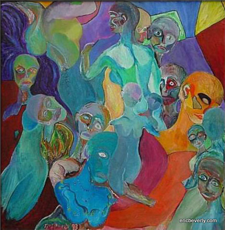 Group surrounds the lovers